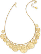 Kate Spade Gold-Tone Coin Statement Necklace