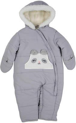 Carter's Girls' Bunting Suits GREY - Gray Panda Bunting - Infant