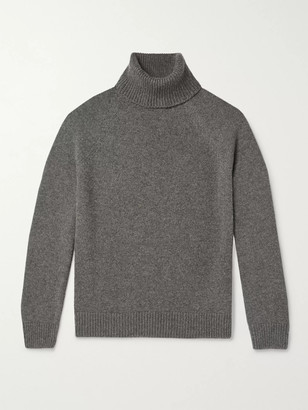 Saint Laurent Camel Hair Rollneck Sweater
