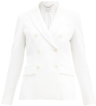 Altuzarra Indiana Double-breasted Crepe Suit Jacket - White