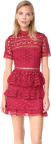 Self-Portrait Self Portrait High Neck Star Lace Paneled Dress