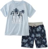 Calvin Klein 2-Pc. Graphic-Print T-Shirt & Shorts Set, Toddler & Little Boys (2T-7)