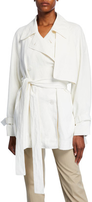 The Row Keera Belted Short Trench Jacket