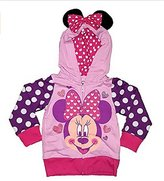 Disney Minnie Mouse Girls Toddler Sweatshirt Hoodie Pink