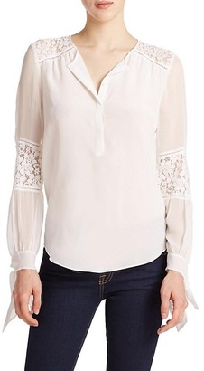 Silk Lace-Panel Top
