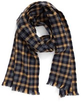 Hickey Freeman Men's Gingham Wool Scarf