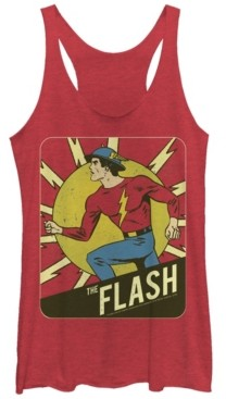 Fifth Sun Dc The Flash Classic Silver Age Tri-Blend Women's Racerback Tank