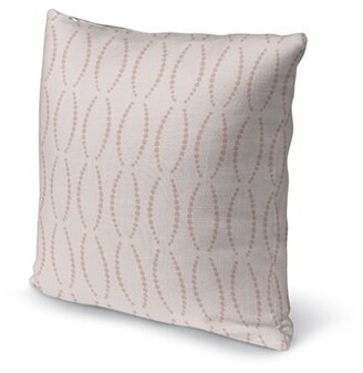 "Rosdorf Park Hubert Accent Throw Pillow Color: Pink, Size: 16"" H x 16"" W, Location: Indoor/Outdoor Use"