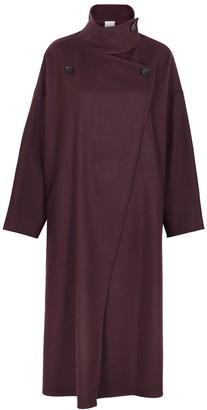 Erika Cavallini Michele Burgundy Wool-blend Coat
