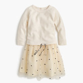 J.Crew Girls' sweatshirt dress with hearts