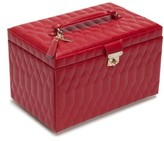 Wolf 'Caroline' Jewelry Case - Red