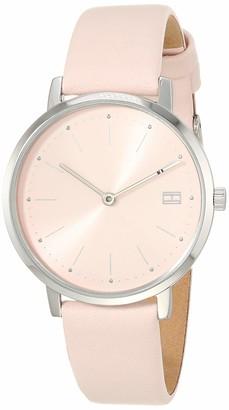 Tommy Hilfiger Women's Stainless Steel Quartz Watch with Leather Calfskin Strap