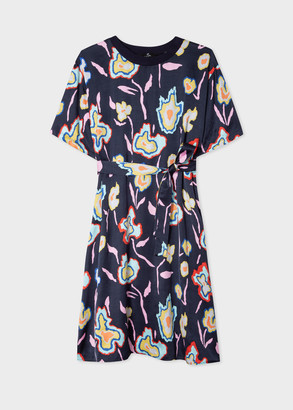 Paul Smith Women's Navy 'Heat Map Floral' Print Dress