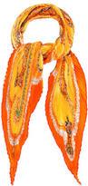 Hermes Paperoles Silk Plissé Scarf