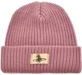 Vivienne Westwood Knit Beanie Hat Pink