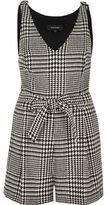 River Island Womens Black and white houndstooth print romper
