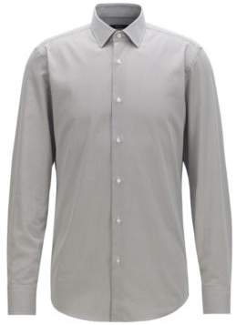 Slim-fit shirt in satin with mini bow-tie print