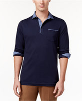 Tasso Elba Men's Chambray Pocket Polo, Only at Macy's