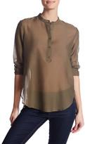 The Kooples Sheer Long Sleeve Shirt
