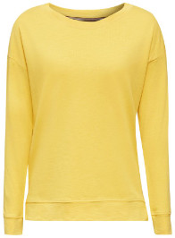 Esprit Yellow Long Sleeved Fashionable Sweatshirt - L .