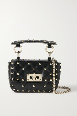 Valentino Rockstud Spike Micro Quilted Leather Shoulder Bag