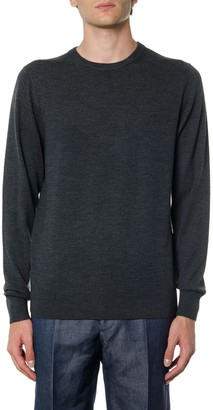 Calvin Klein Grey Wool Sweater With Logo