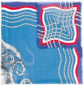 Gucci tiger's head print scarf - men - Silk/Modal - One Size