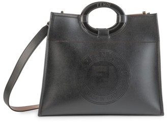 Fendi Runaway Leather Shopper