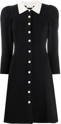 Sandro Paris contrast collar A-line dress