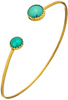 Heather Hawkins Tiny Serrated Gemstone Bangle - Multiple Colors