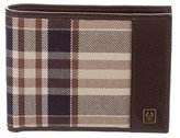 Belstaff Plaid Leather-Trimmed Wallet