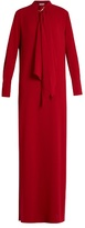Sonia Rykiel Satin-backed crepe maxi dress