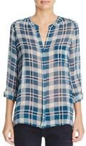 Joie Nura Plaid Silk Shirt