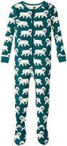 Tea Collection Snow Monkey Footed Pajamas (Baby) - Tidepool - 18-24 Months Baby - 18-24 Months