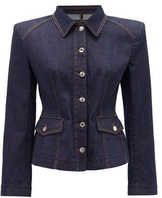 Dolce & Gabbana Tailored Denim Jacket - Womens - Denim