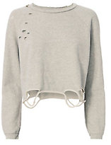 NSF Destroyed Cropped Sweatshirt