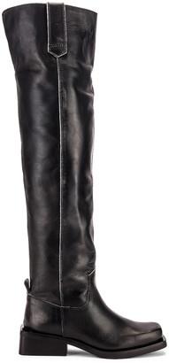 Ganni MC Knee High Boots in Black | FWRD