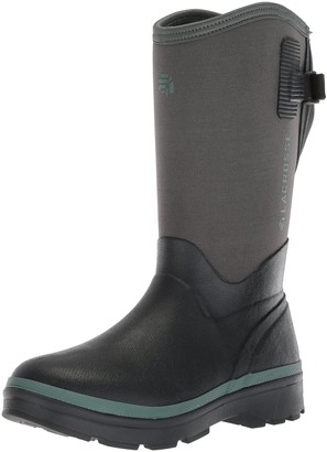 "LaCrosse Women's 602243 Alpha Range 12"" 5.0MM Waterproof Outdoor Boot Gray/Balsam Green - 5 M"