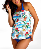 Pez D'or Royal Blue Martinique Maternity Three-Piece Tankini Set