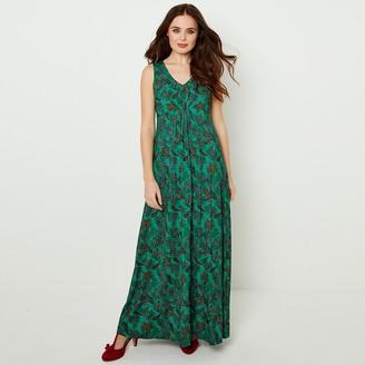 Joe Browns Sleeveless V-Neck Maxi Dress in Print