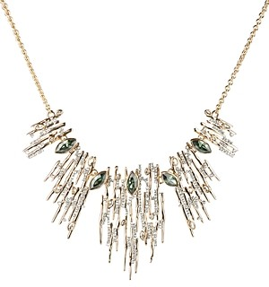 Alexis Bittar Navette Crystal Spiked Bib Necklace, 16