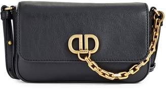 DKNY Logo Leather Crossbody Bag