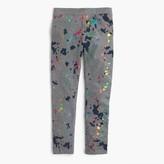 J.Crew Girls' everyday leggings in splatter print