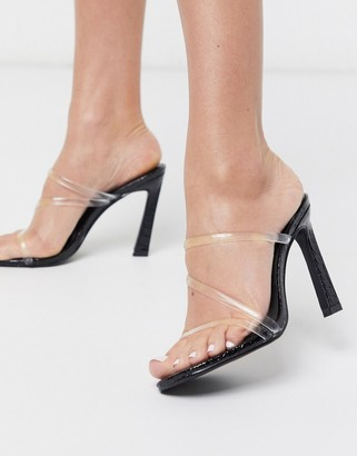 Simmi Shoes Simmi London True clear mules in black
