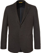 Canali Brown Unstructured Wool and Cotton-Blend Blazer