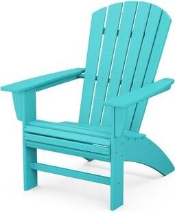Polywood Nautical Plastic/Resin Adirondack Chair Color: Aruba
