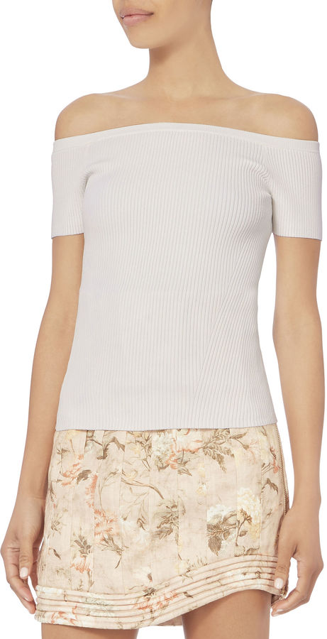 Exclusive for Intermix Flynn Off-The-Shoulder Knit Top
