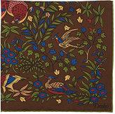 Drakes Drake's Men's Bird-Of-Paradise-Print Twill Pocket Square