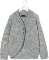 Diesel stud embellished knitted cardigan