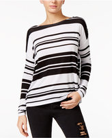 GUESS Bre Striped Boat-Neck Top